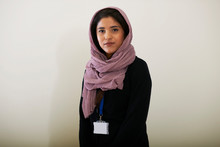 Portrait Confident Young Woman Wearing Hijab