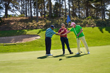 Male Golfers Shaking Hands On ...