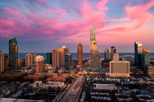 Chicago South Loop Aerial View...