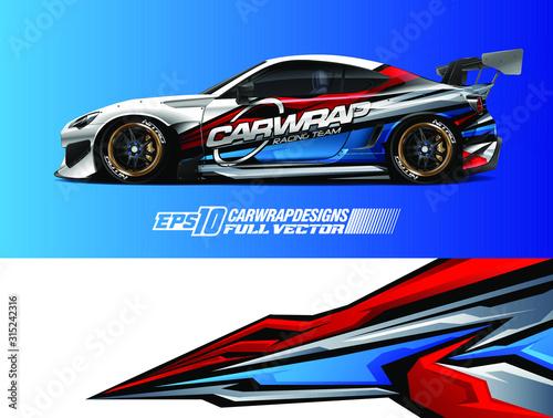 Foto Car wrap design vector