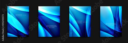 Wave covers set with fluid gradients Fototapet