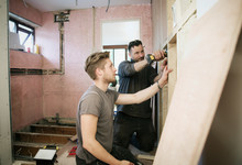 Construction Workers Framing I...
