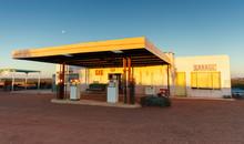 Abandoned Gas Station And Gara...