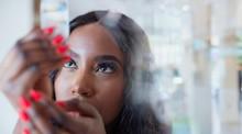 Close Up Curious Young Woman E...