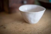 Close Up White Ceramic Bowl
