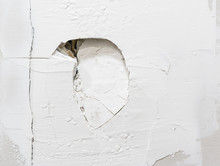 Large Punched Hole In Wall. Cl...