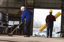 Maintenance Supervisor Cleaning Garage