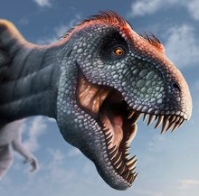 Tyrannosaurus Rex Head, Illust...