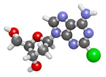 Cladribine Cancer Drug Molecule