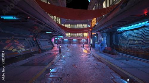 Fototapety, obrazy: 夜の街