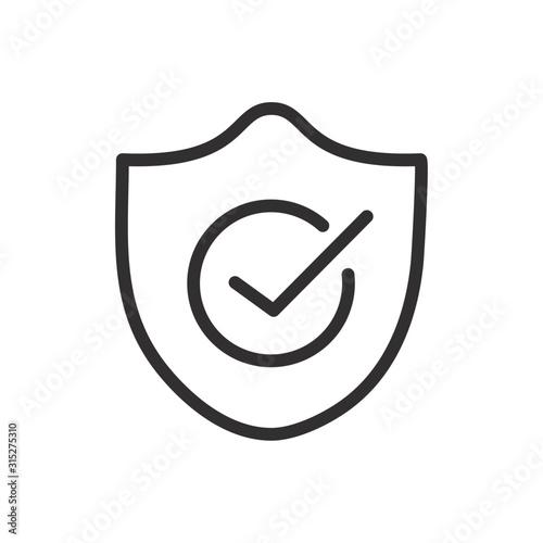 check mark quality shield icon linear design Wallpaper Mural