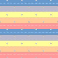 Seamless Silver Dot Glitter Pattern On Colrful Stripe Background