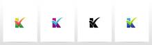 Tick Mark On Letter Logo Design K