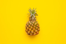 Tropical Fruit Pineapple On Ye...