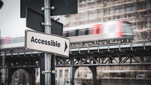 Fototapeta  Street Sign to Accessible