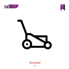 Outline Lawn-mower Icon. Lawn-...