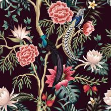 Vintage Garden Tree, Flower, L...