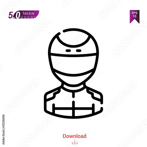 Outline racer icon Canvas-taulu