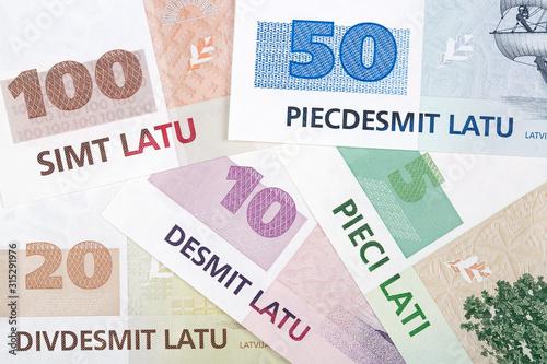 Fotografie, Tablou  Latvian money a business background
