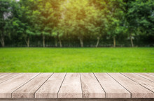 Wooden Desk Or Wood Floor With...