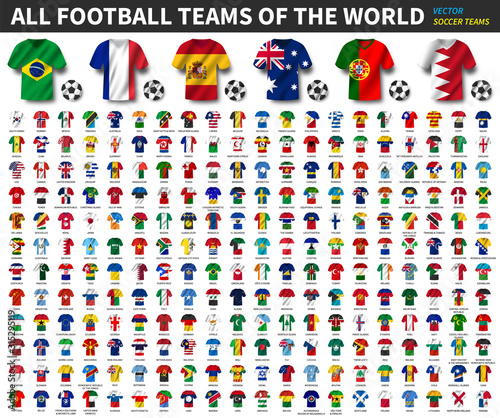 All national flags of the world Poster Mural XXL