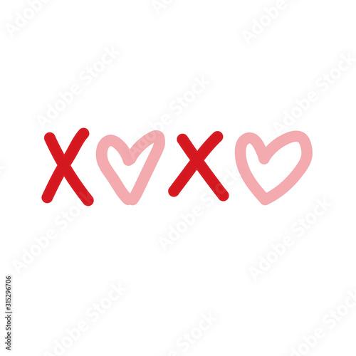 Obraz na plátne XOXO