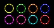 Circle Neon.Circle Neon Vector...