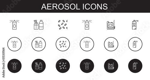 aerosol icons set Wallpaper Mural