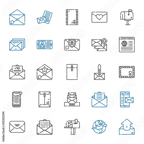 Fotomural correspondence icons set
