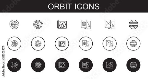 Obraz orbit icons set - fototapety do salonu