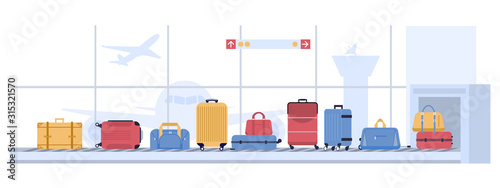 Luggage airport carousel Wallpaper Mural