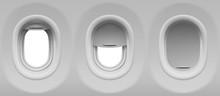Aircraft Windows. Three Realis...