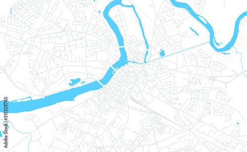 Canvas Print Limerick, Ireland bright vector map