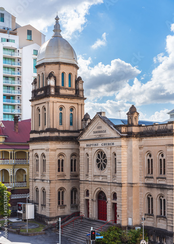 Heritage listed City Tabernacle Baptist Church in the Spring Hill district of Brisbane, Australia