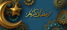 Ramadan Kareem Banner With 3d ...
