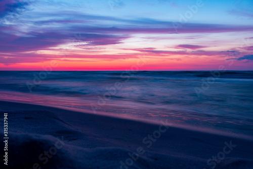 Fototapeta Morze Bałtyckie zachód słońca plaża obraz