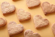 Many Heart Shaped Cookies On Y...