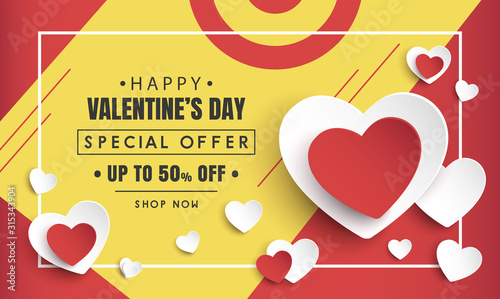 Fototapeta valentine's day sale background obraz