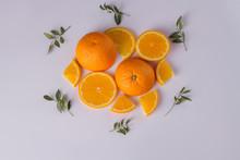 Fresh Orange Fruit Slices. Swe...