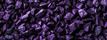 Purple Stone Pebbles As Abstract Background Texture, Landscape Architecture Backdrop, Interior Design And Textured Pattern For Luxury Brand Design