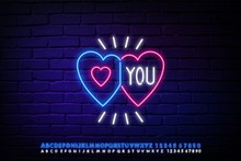 Illuminated Neon Love Hearts S...