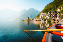 Classic View Of Hallstatt With...