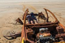Car Wreck On The Beach