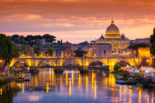 Night View Of Old Sant' Angelo...