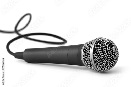 Fotografija Microphone isolated on white