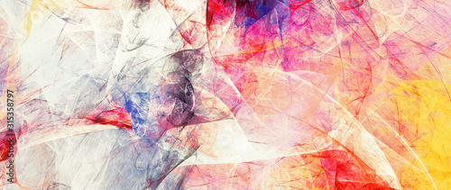 Bright artistic splashes. Abstract painting color texture. Modern pattern. Multicolor background. Fractal artwork for creative graphic design