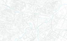 Lublin, Poland Bright Vector Map