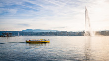 Lake Geneva Panorama With The ...