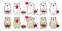 Bear Vector Heart Valentine Ic...
