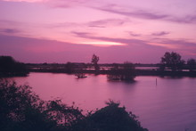 Purple And Pink Twilight Over ...